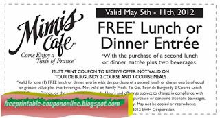 Free Printable Mimis Cafe Coupons Free Stuff Pizza Coupons