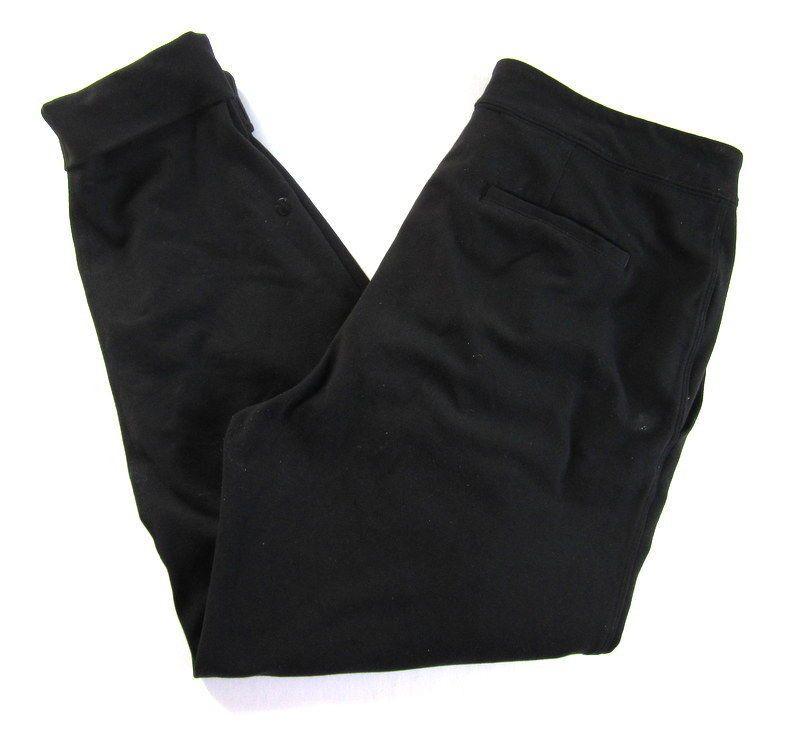 Lululemon Womens 8 Black Jet Crop Drawstring sweat Pant Jogger Stretch R2 | eBay