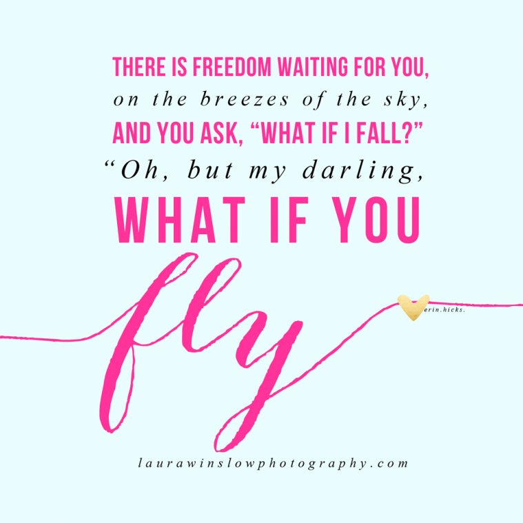 my darling what if you fly? // free inspirational print for your home