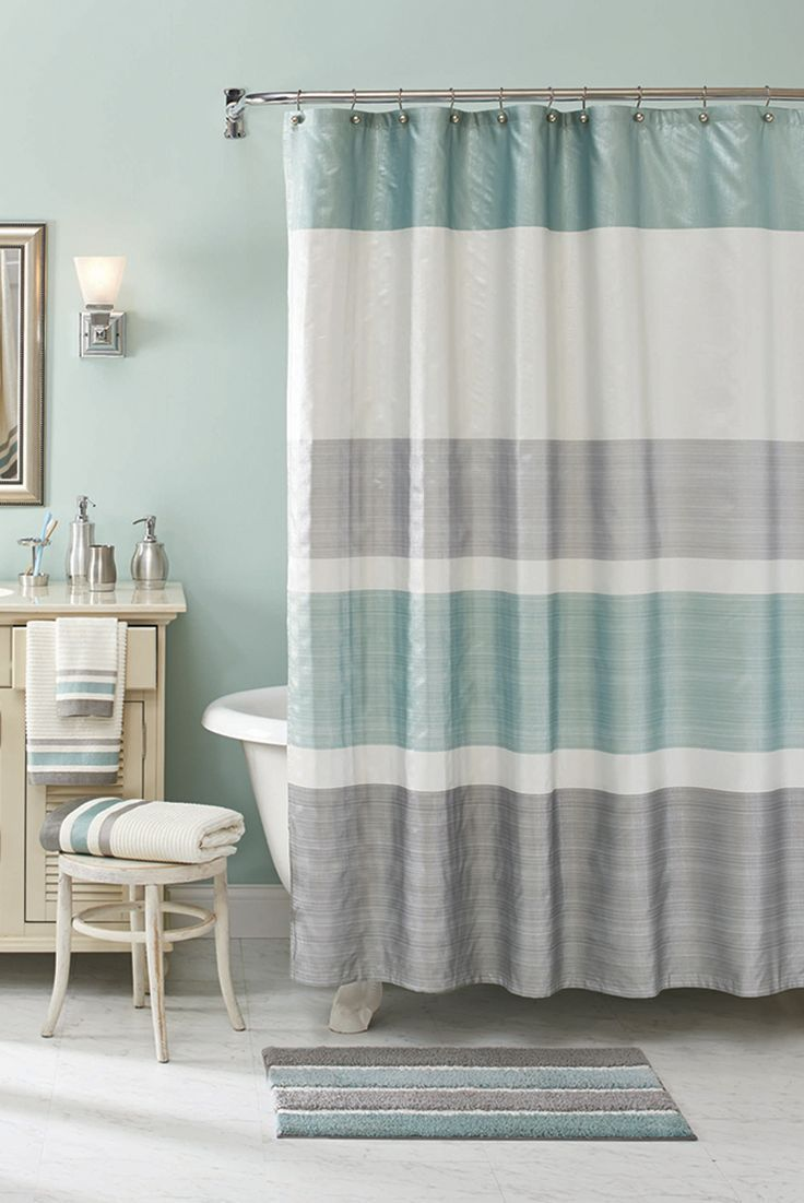 Mix In Metallic Accessories A New Set Of Towels And Shimmering Shower Curtain For Boost Your Bath