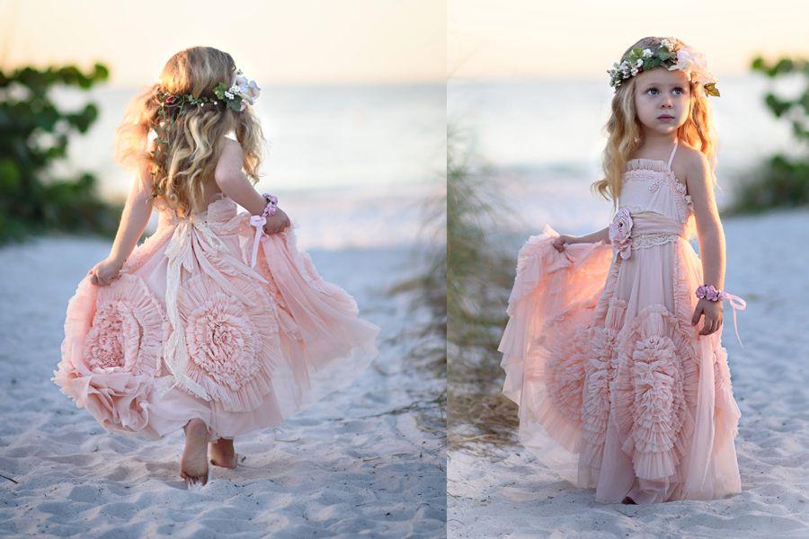 pink flower girl dresses australia