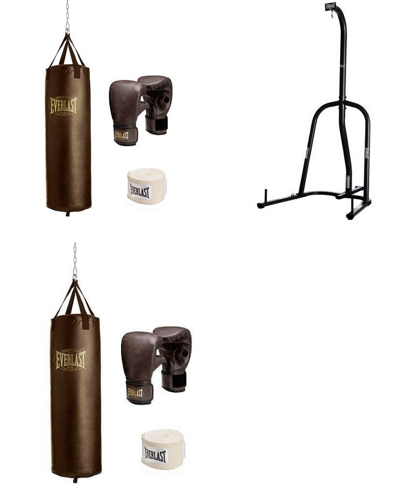 192db110592 Boxing Martial Arts and MMA 179767  New Everlast 100 Lb Heavy Bag With  Stand Kit Boxing Gloves Hand Wraps Punching -  BUY IT NOW ONLY   169.99 on  eBay!
