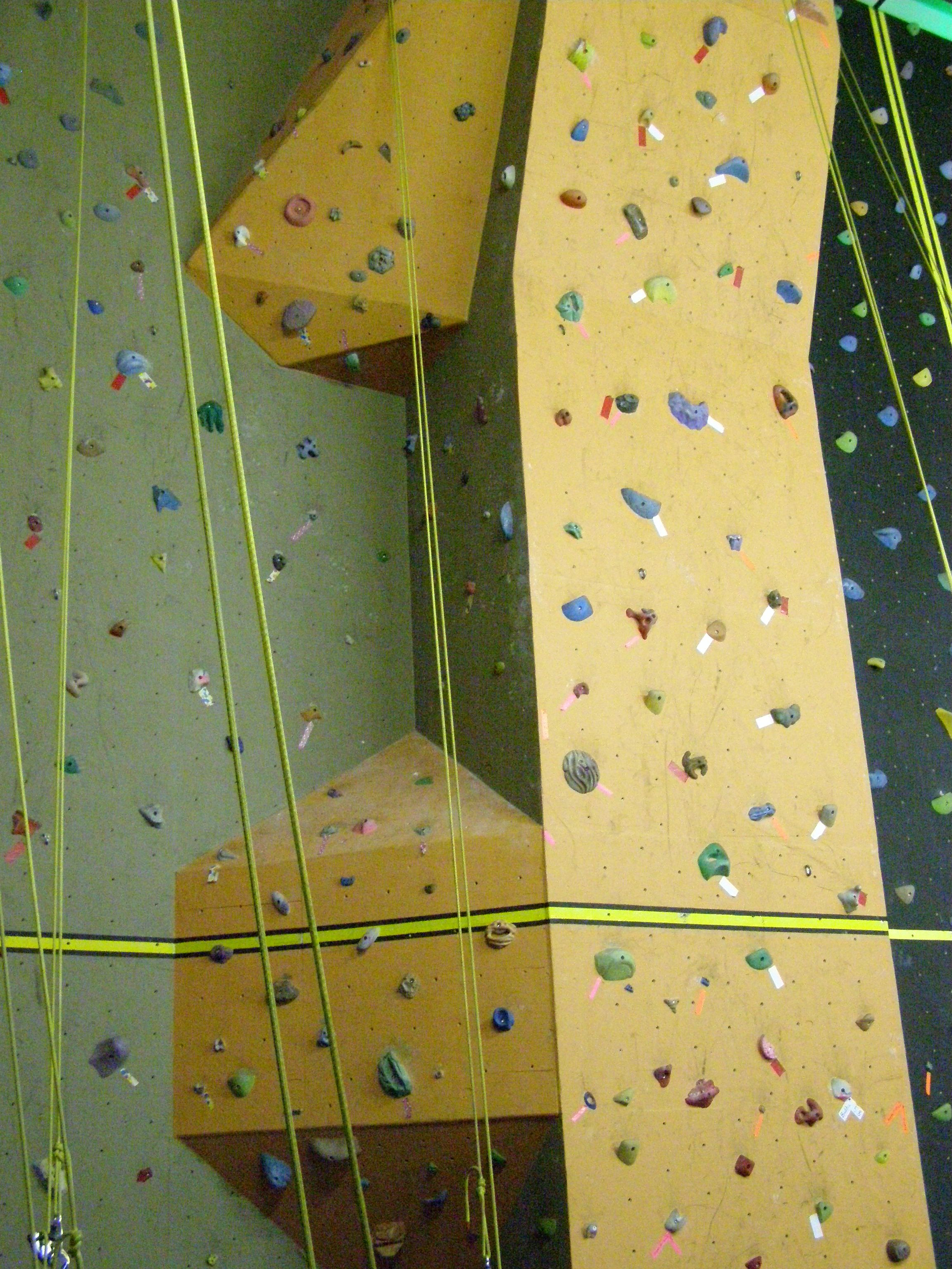 A nice double feature corner wall.   Slidell Rocks Climbing Gym ...