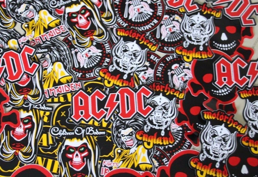 100 rock band sticker decals worth over 200 pounds wholesale