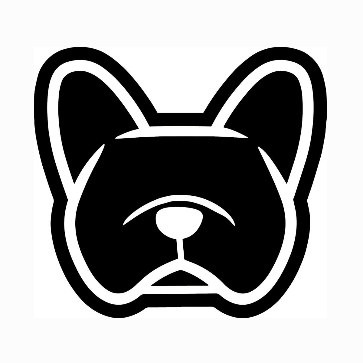 French Bulldog Frenchie Car Vinyl Decal Stickers You Choose Color Smooshface United Flat Face French Bulldog Art French Bulldog Cartoon Dog Logo Design