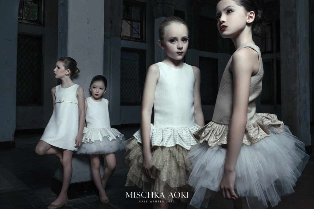 A simpler #ballet style for girls partywear from Mischka Akoi for fall 2013