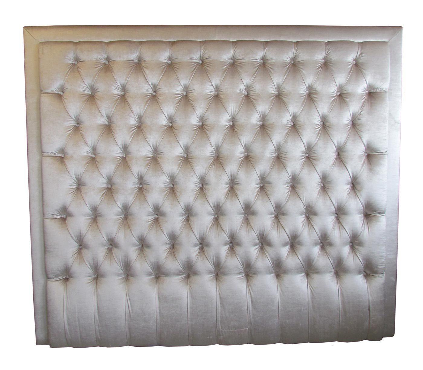 Hög sänggavel i sammet Bedrooms Pinterest Sänggavel och Inredning