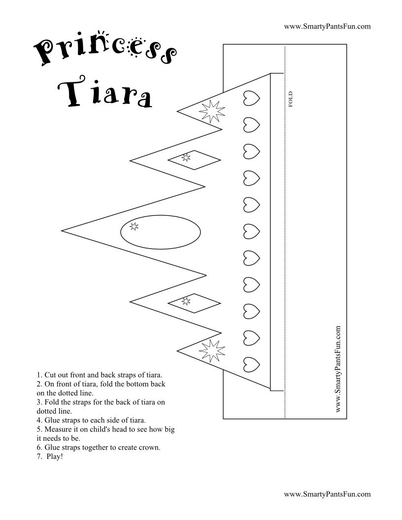Printable Crowns And Tiaras