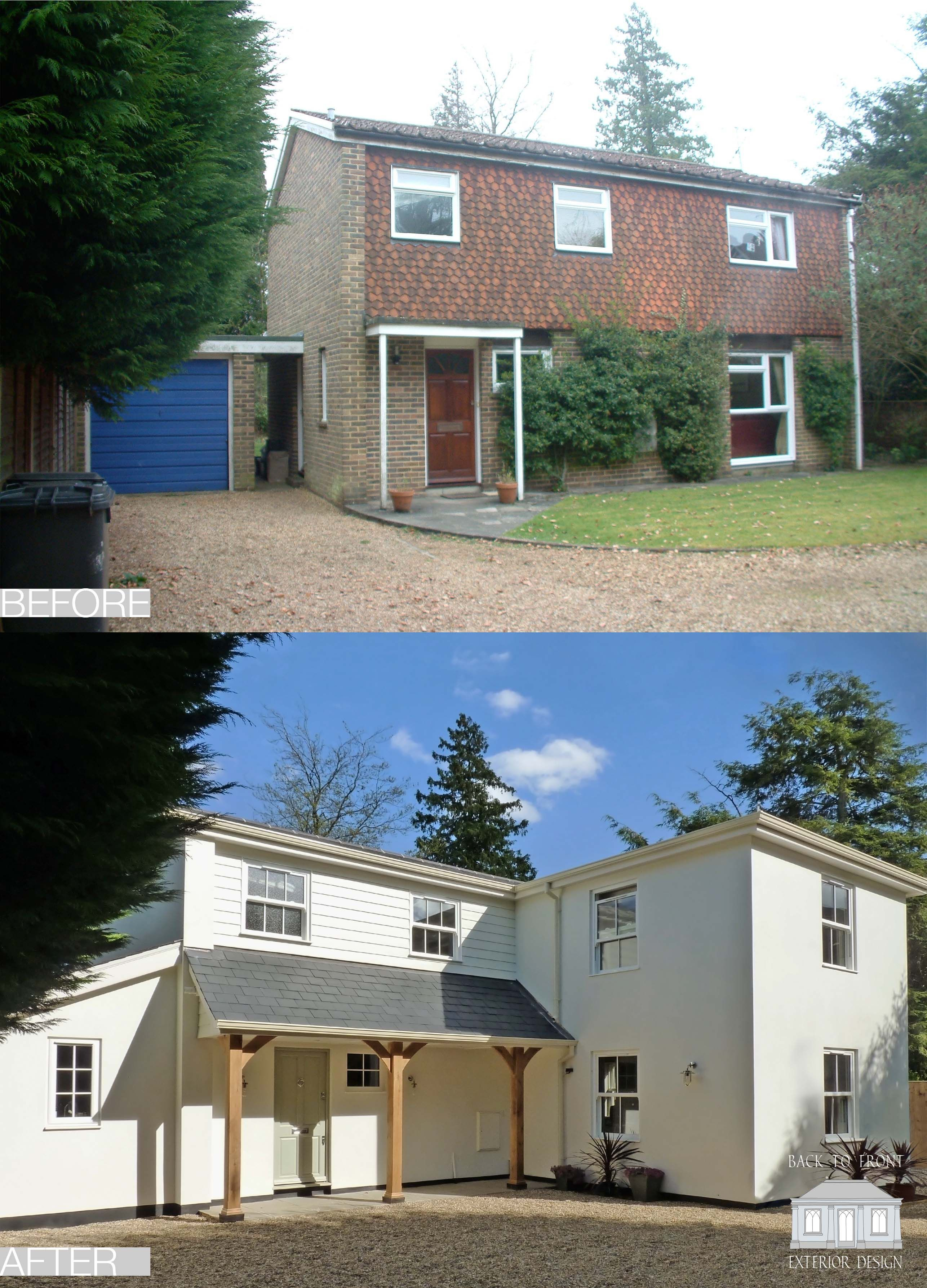 1960 S Remodelling Project Featured On Sarah Beeny S Double Your House For Half The Money In 2012 A Compl House Cladding Facade House Home Exterior Makeover