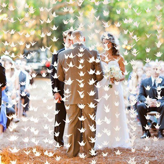 White Origami Wedding Backdrop Himisspuff Ideas