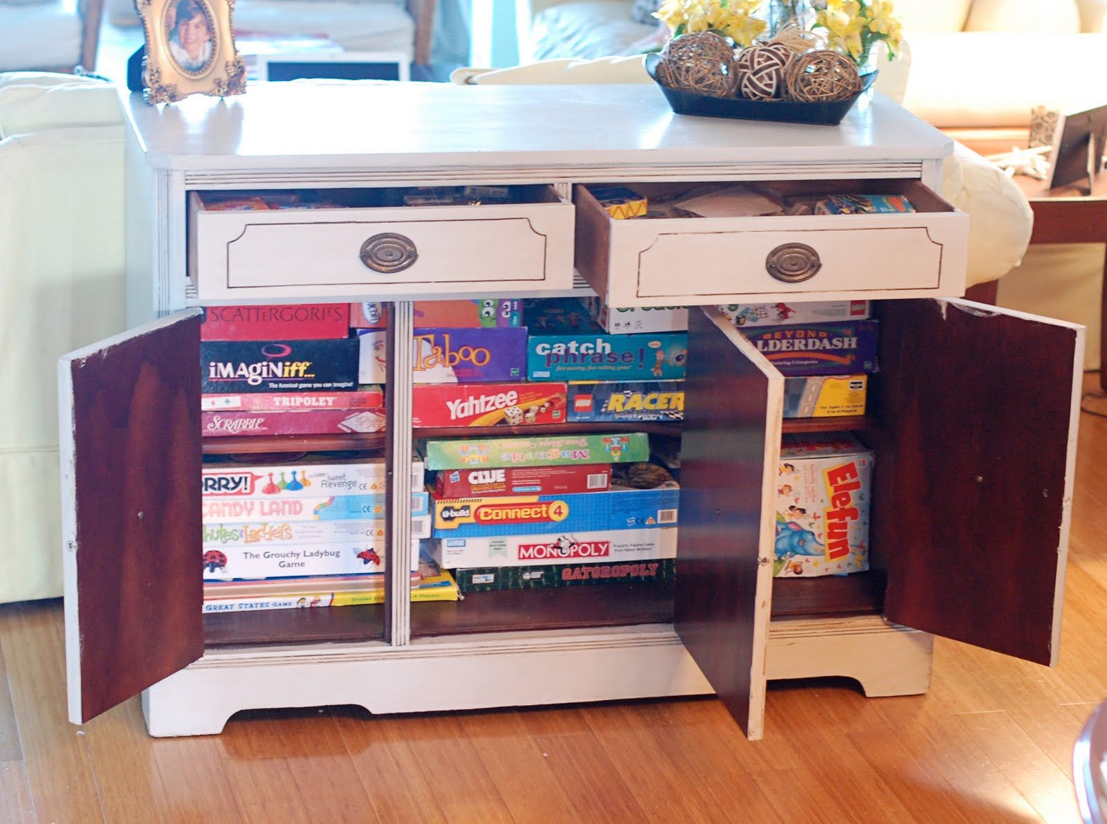 Great Storage Idea For Kids And Their Games For The Back Of The
