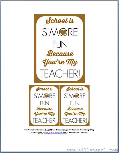 Teacher First Day of School Gift Teacher Thank You Gift Printable S/'More Teachers Like You Teacher Appreciation Gift Teacher Gift
