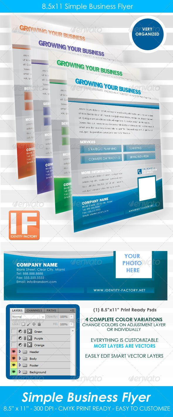 simple business flyer 85x11 photoshop psd elegant clean available here httpsgraphicrivernetitemsimple business flyer 85x11267704refpxcr