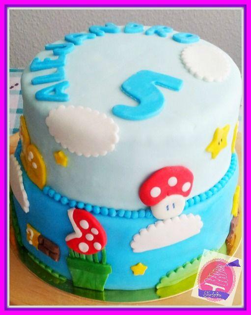 Mario Bros Cake  Torte bestellen  My work  Pinterest  Mario bros cake and Cake