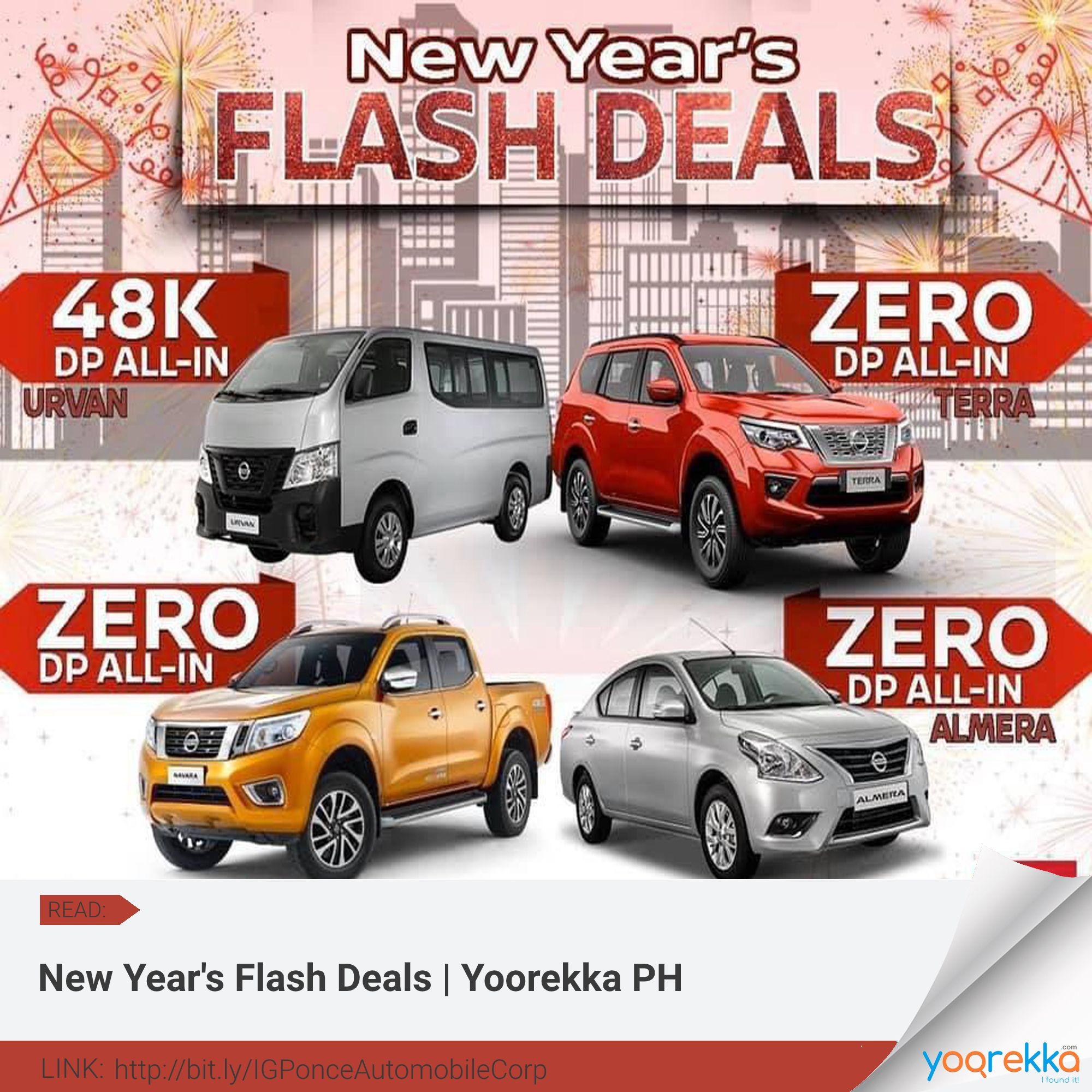 Nissan Bacolod New Year S Flash Deals No Hidden Charges Promo Runs Until January 31 2020 Yoorekka Ponceautomobilecorporation In 2020 Flash Deals Deal Newyear