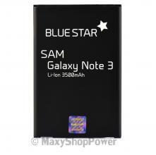 BATTERIA ORIGINALE BLUE STAR 3,8V 3500mAh LI-ION PER SAMSUNG GALAXY NOTE 3 N9000 NERA BLACK NEW NUOVA IDEA REGALO - SU WWW.MAXYSHOPPOWER.COM