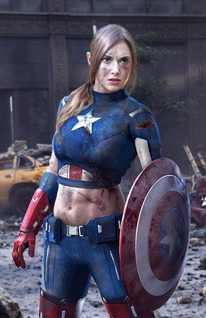 captain america au fminin - Super Heros Fille
