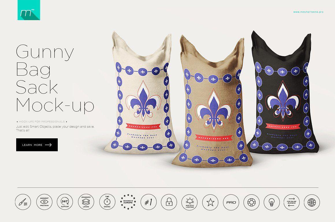 Download Gunny Bag Sack Mockup Sack Bag Gunny Sack