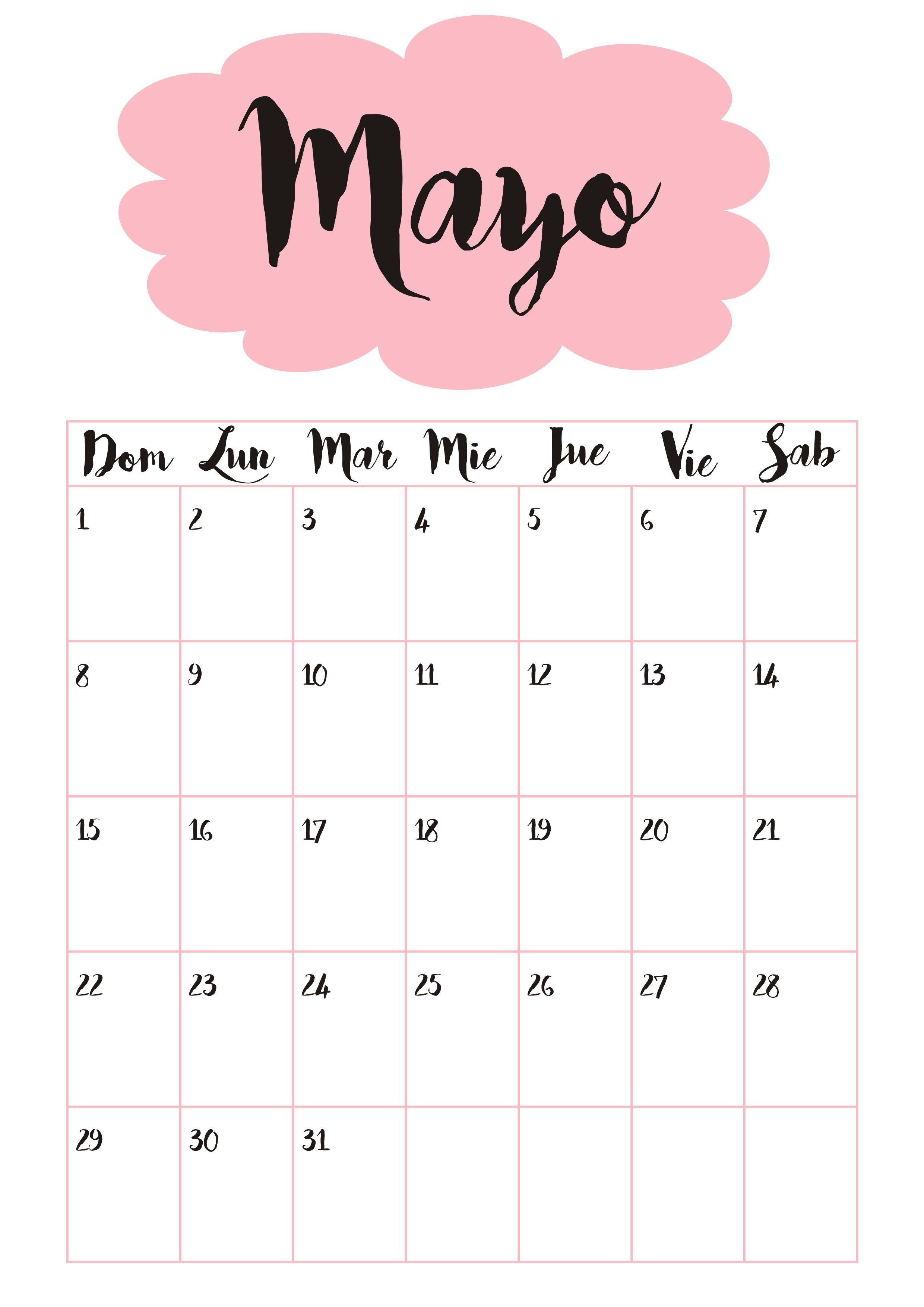 Calendario 5 Mayo