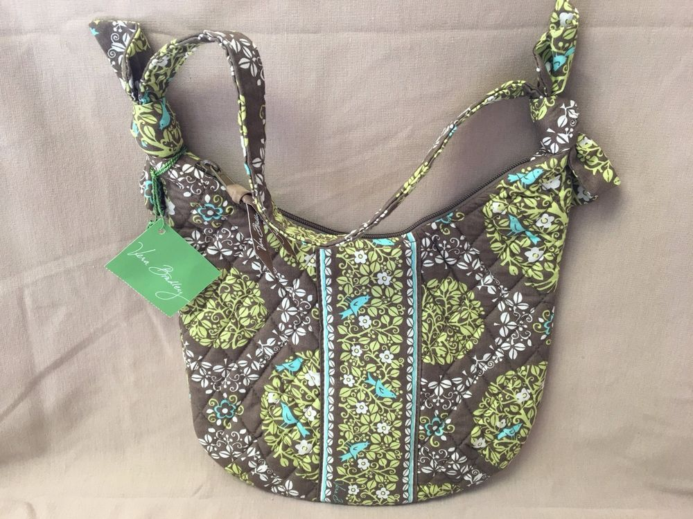 84cebb388 Vera Bradley OLIVIA Sittin' in a Tree Purse Brown Green Aqua Bag Retired  NWT! #VeraBradley #SatchelShoulder