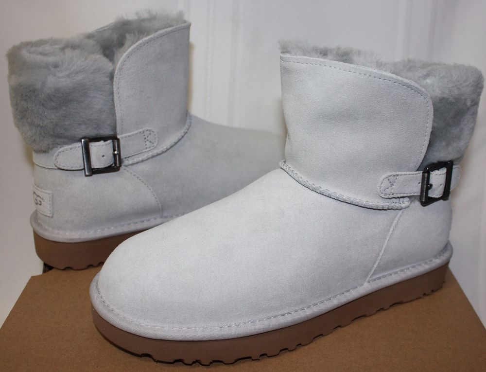 ce0ff297c61 UGG Women's Classic Karel Grey Violet Suede boots New With Box ...