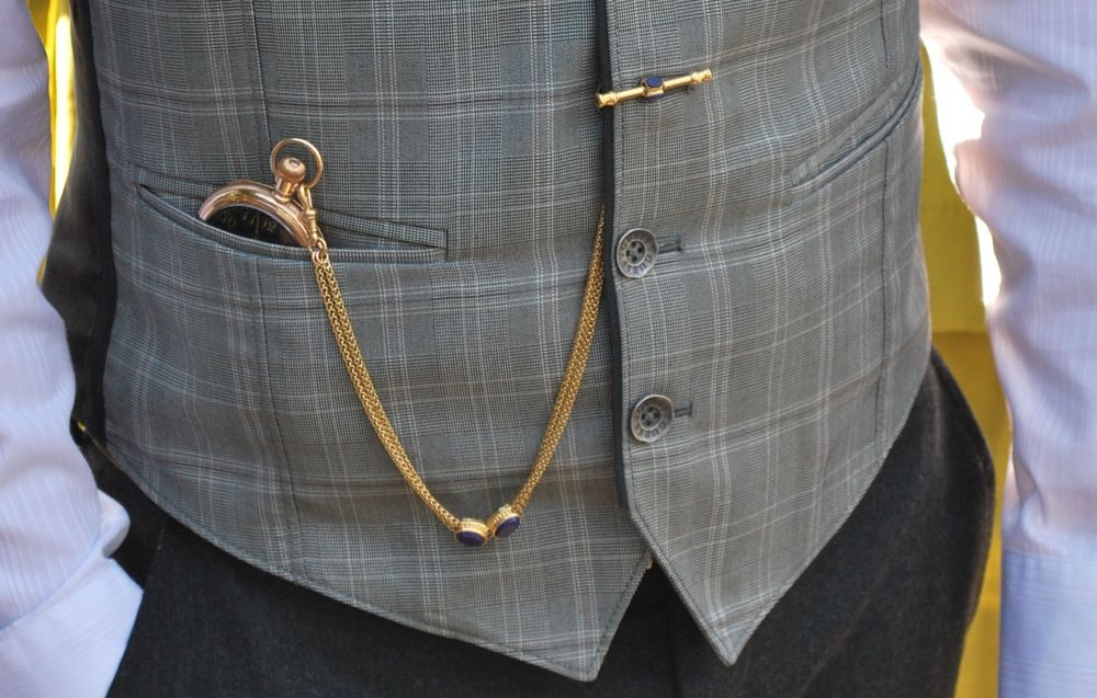 Image result for How To Wear a Pocket Watch With a Waistcoat?