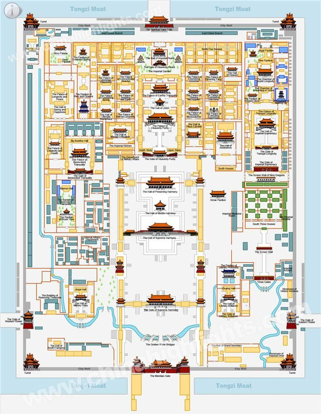 the forbidden city map Education Pinterest City maps City and