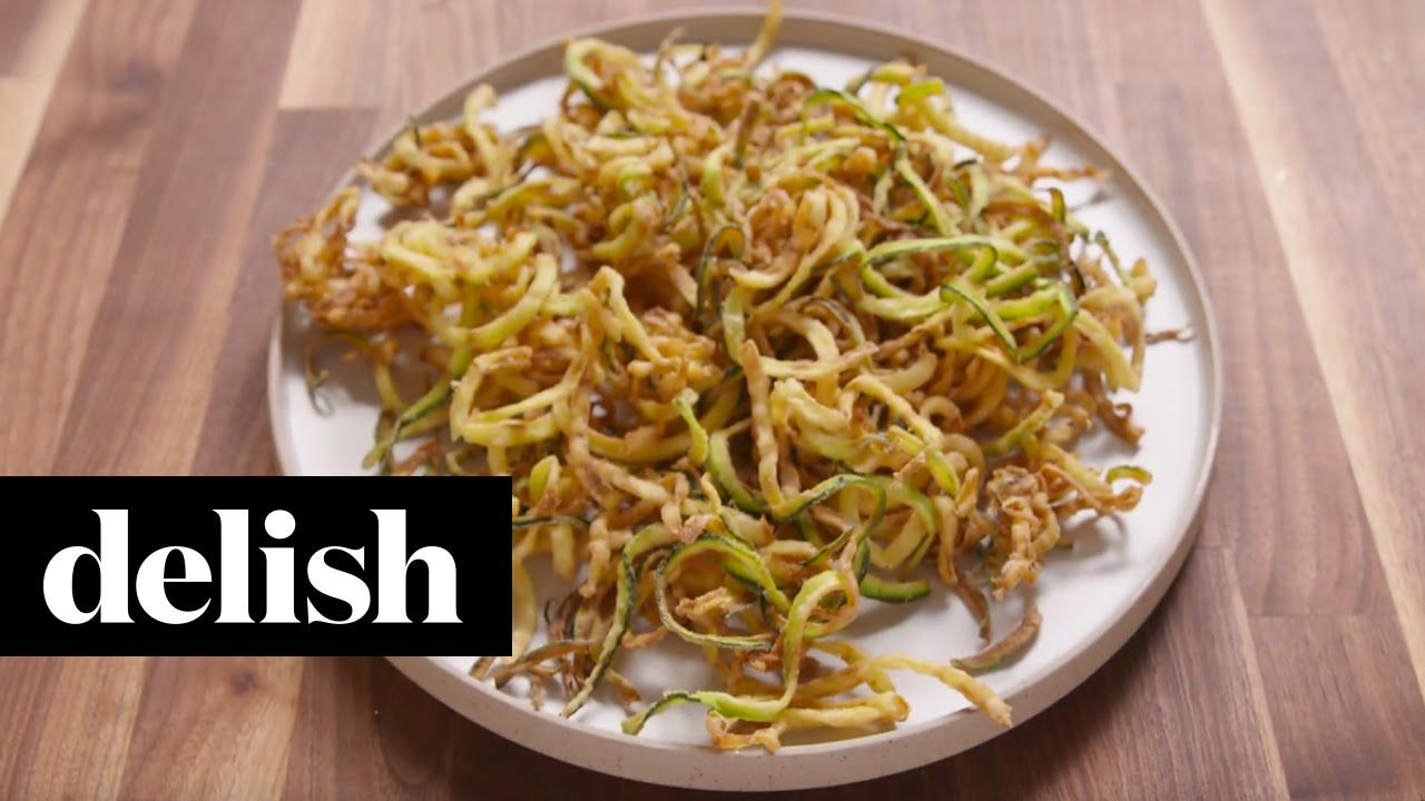 How To Make Zucchini Curly Fries Delish (With images