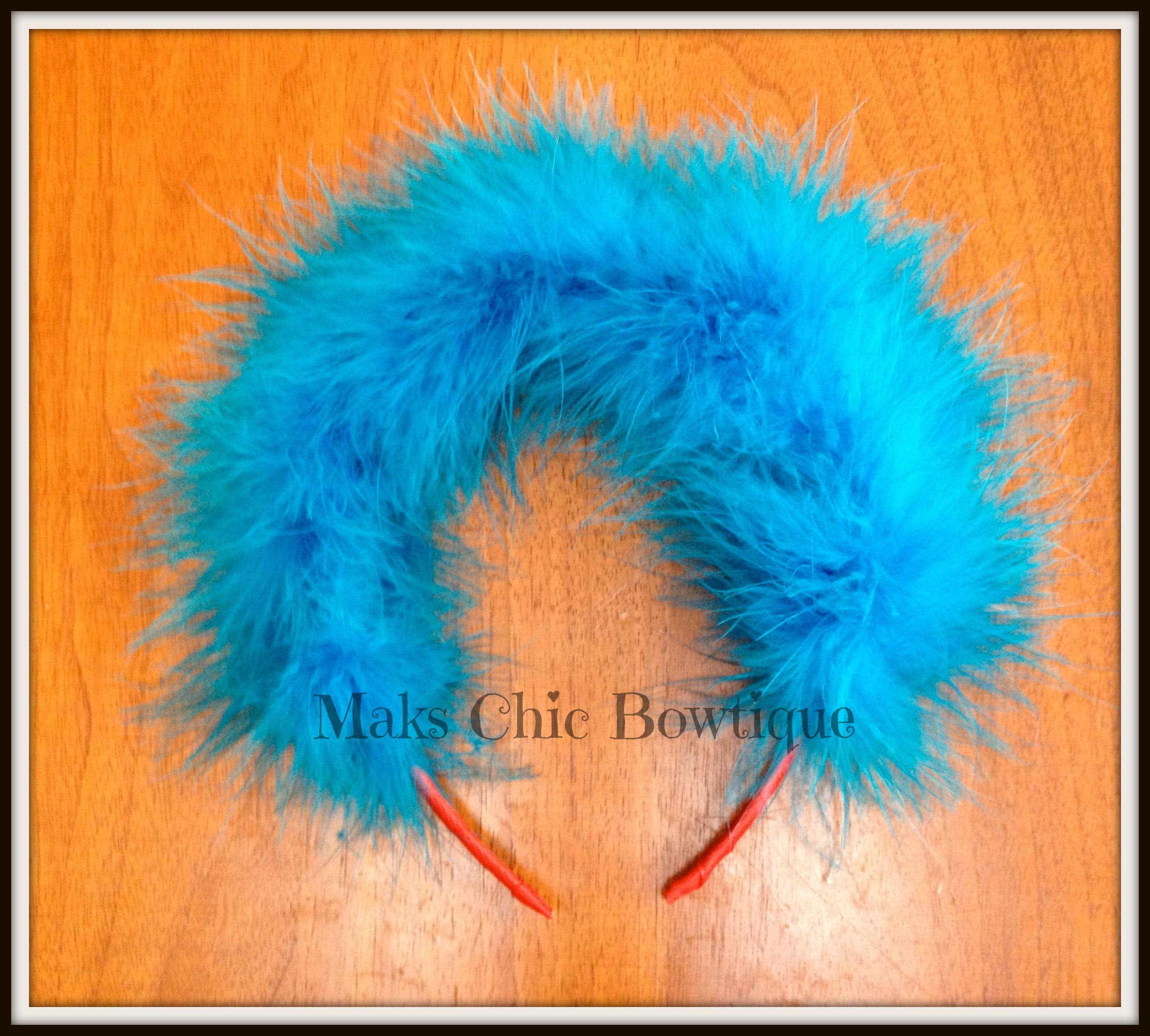 DIY Thing 1 or Thing 2 headpiece -plastic headband -red ...