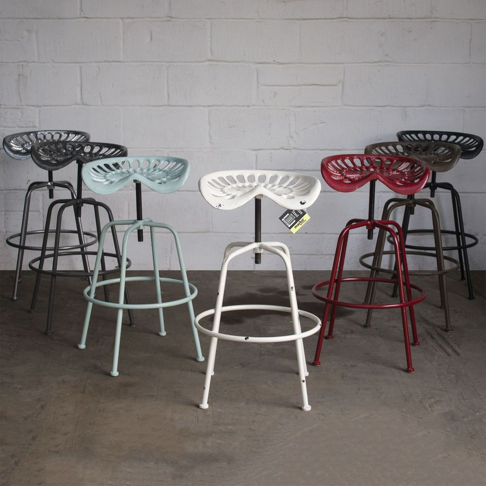 Sensational Details About Vintage Tractor Seat Bar Stool Rustic Cast Gmtry Best Dining Table And Chair Ideas Images Gmtryco