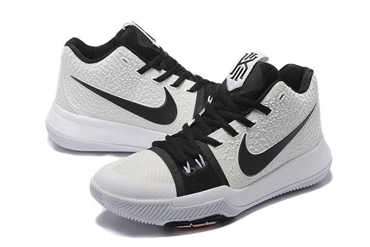 the latest 2f1cb b719a Mens Original Nike Kyrie 3 Basketball Shoes White Black