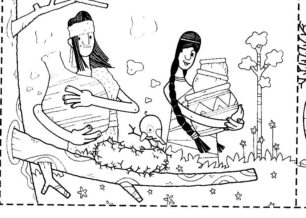 Lamina para colorear pueblo mapuche | año nuevo mapuche | Pinterest