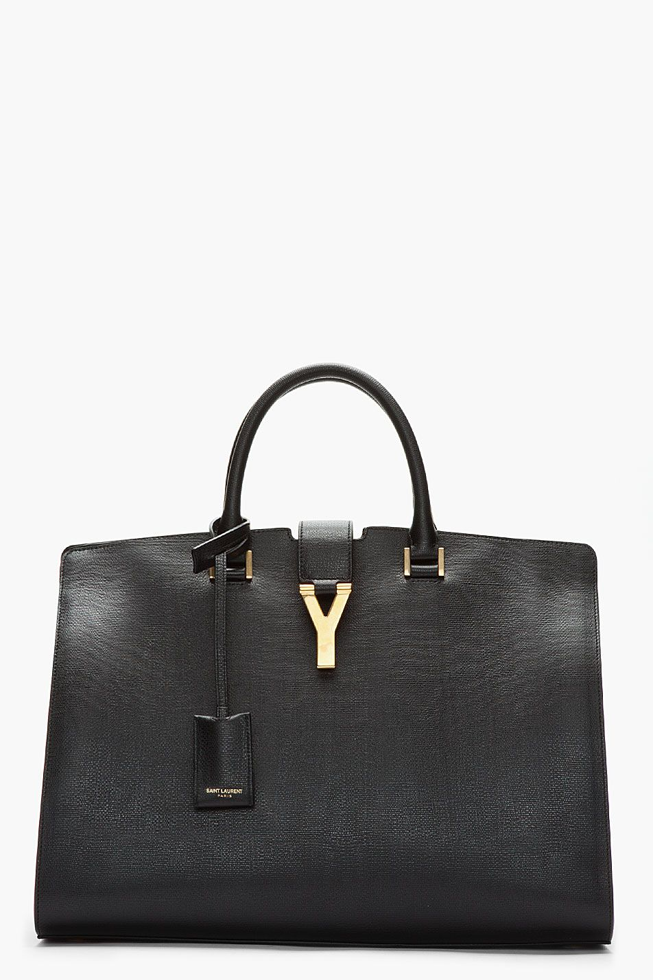 FOR HER: Saint Laurent Black Leather Chyc Tote