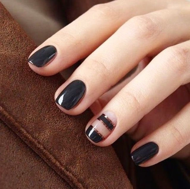 Olive and June nails | B E A U T Y | Pinterest | Black nails ...
