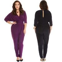 cb3780108df3 Wish | Hot Women Jumpsuit Sexy Long Sleeve Leisure V-neck Rompers Tracksuit Plus  Size
