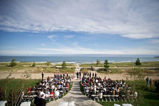 Lake Michigan Beaches In Wisconsin Outdoor Wedding Ceremony
