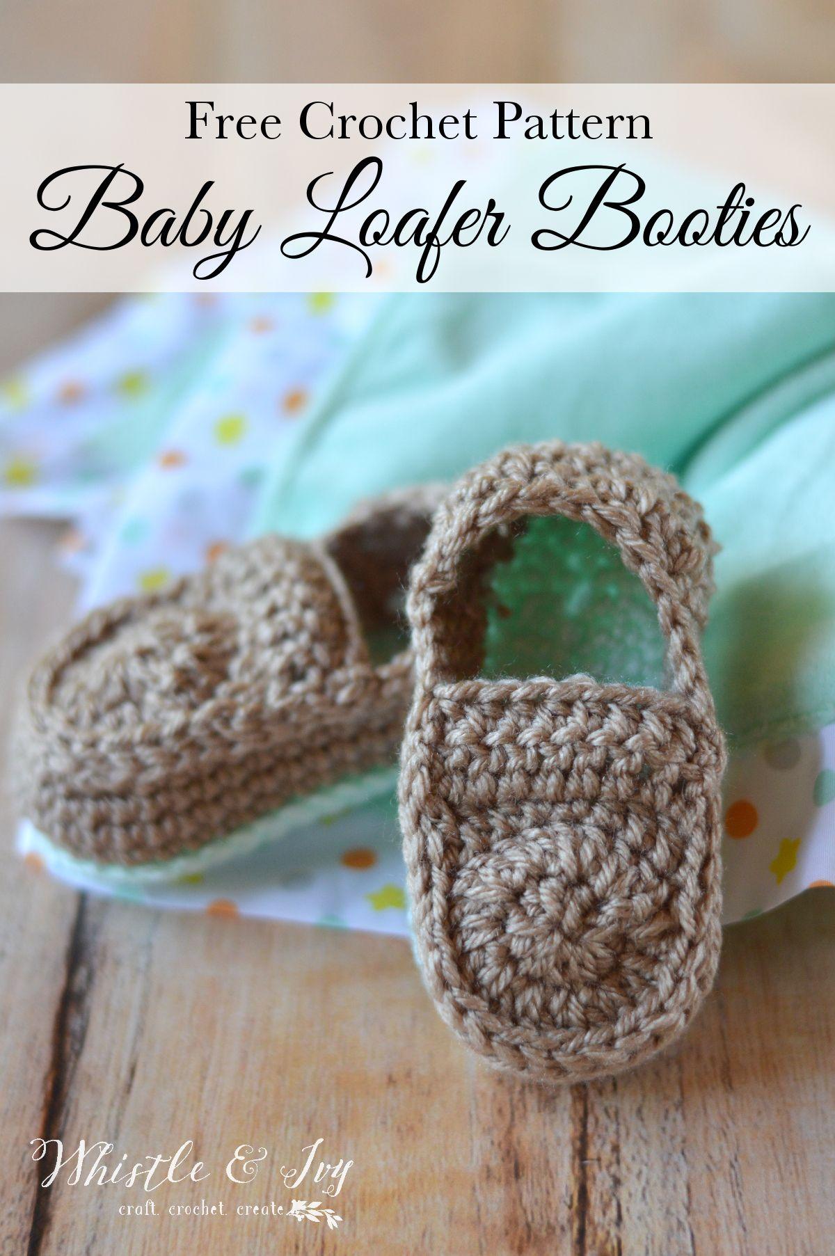 Crochet Baby Loafers Free Pattern   Pinterest   Crochet baby, Free ...