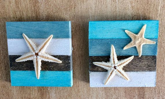 Miniature Starfish Pictures, Beach Wall Art, Dollhouse Wall Art, Miniature accessory, Dollhouse Accessory, Wall Decor, Beach Picture