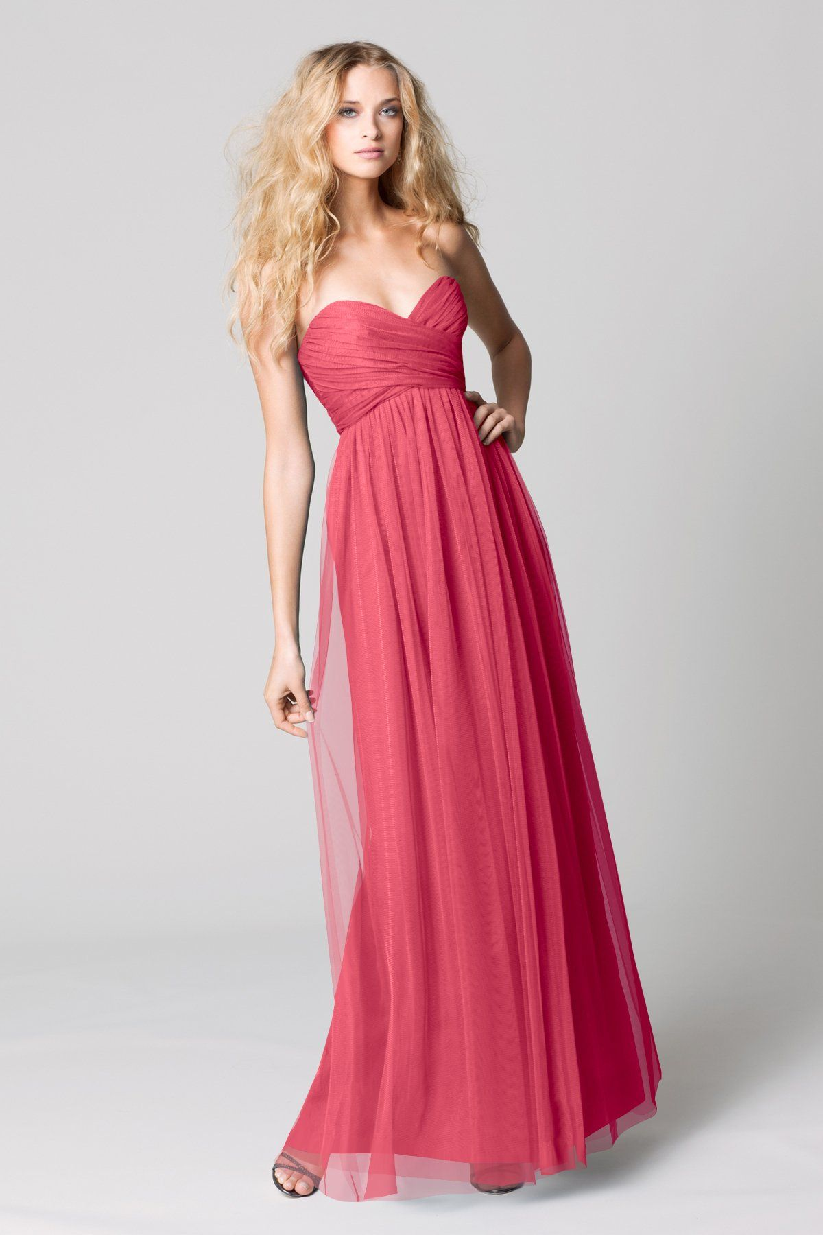 Wtoo 337 Bridesmaid Dress watermelon bobbinet | Fashionn | Pinterest ...