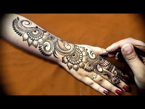Mehndi Designs Hands Arabic Latest : Full hand teej mehendi design dulhan latest easy henna mehndi