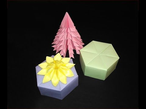 Origami paper box with lid - Tutorial - YouTube | 360x480