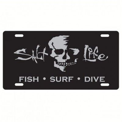 Salt Life At Ease License Plate (Silver;One Size)