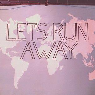 Let's Run Away print at Signal Return