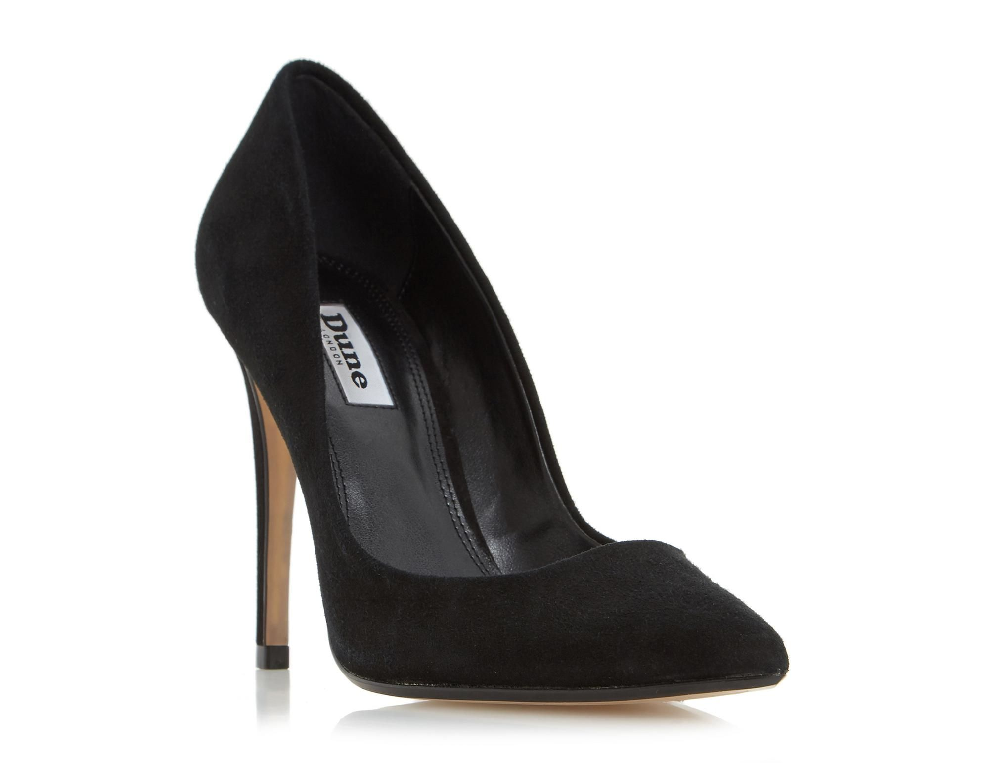 This timeless style is practical yet stylish and perfect for all occasions. An essential court shoe styled with a pointed toe and a slim high heel. Team it with cigarette trousers and a simple top for a smart casual look.