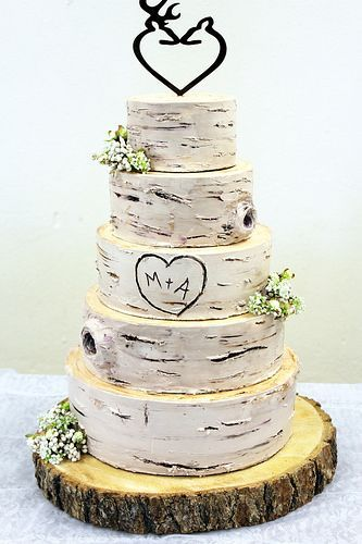Birch Wedding Bad Cake