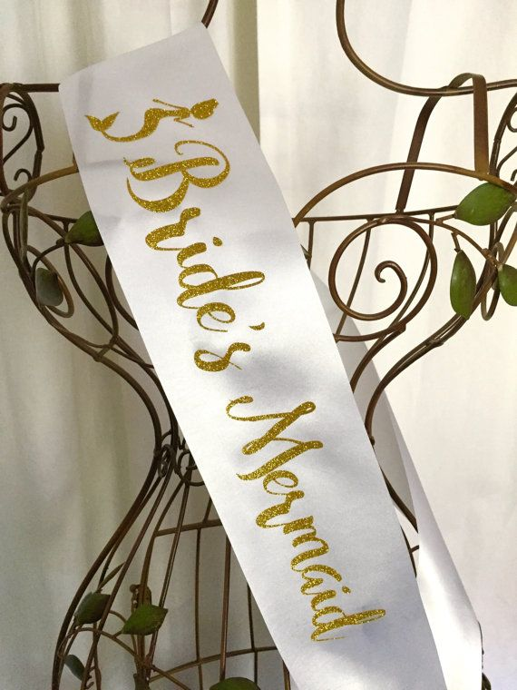 Sparkle Bride's Mermaid Sash by regalribbons on Etsy