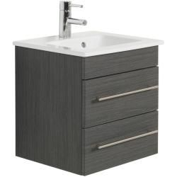 Photo of Bathroom furniture with Villeroy & Boch Venticello basin 50cm, 2 drawers, textured anthracite