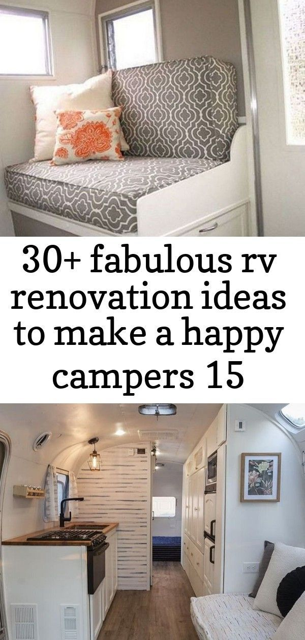 Stylish 30+ Fabulous RV Renovation Ideas To Make A Happy Campers  55 Best RV Bathroom Remodel Ideas