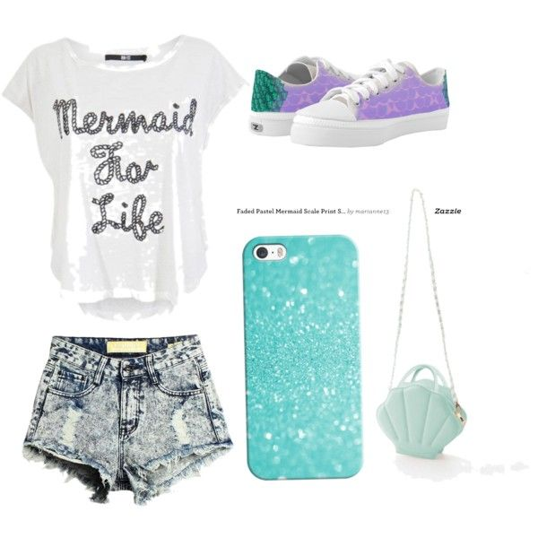 Mermaid OOTD! by julianna-sarabia on Polyvore featuring Casetify