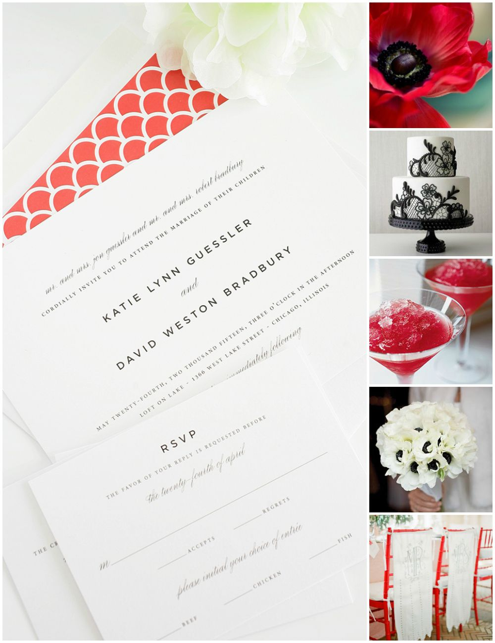 Black, White and Red Wedding Inspiration | Red wedding, Red wedding ...